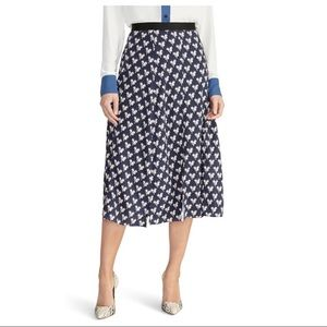 Rachel Roy Lovebird navy bird print midi skirt, 12